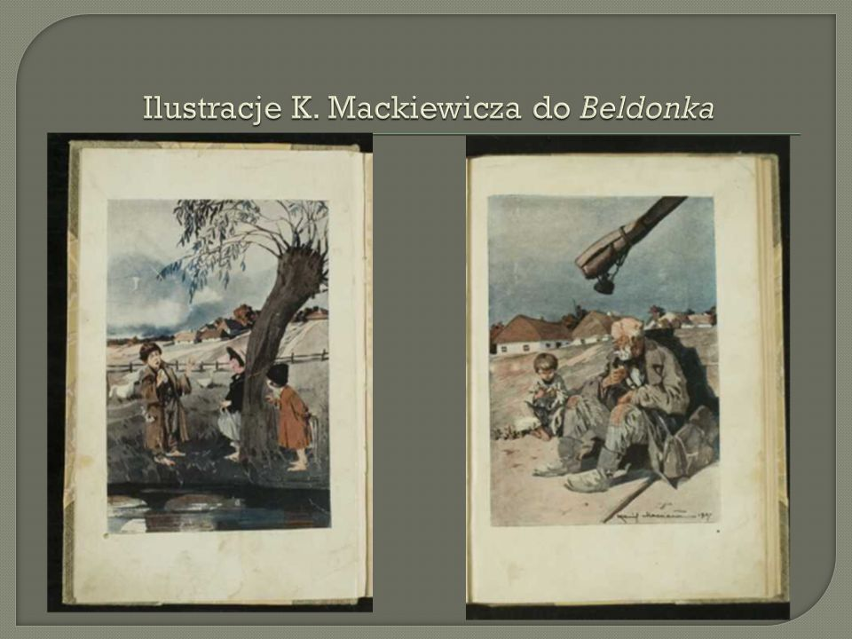 Ilustracje K. Mackiewicza do Beldonka