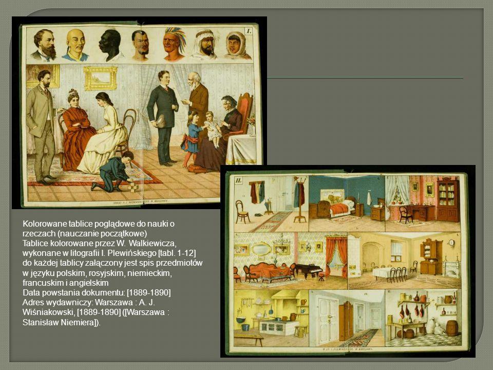 Kolorowane tablice poglądowe do nauki o rzeczach (nauczanie początkowe)