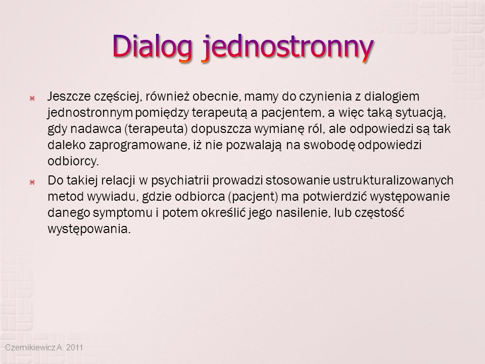 Dialog jednostronny