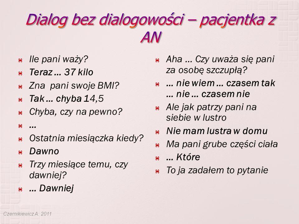 Dialog bez dialogowości – pacjentka z AN