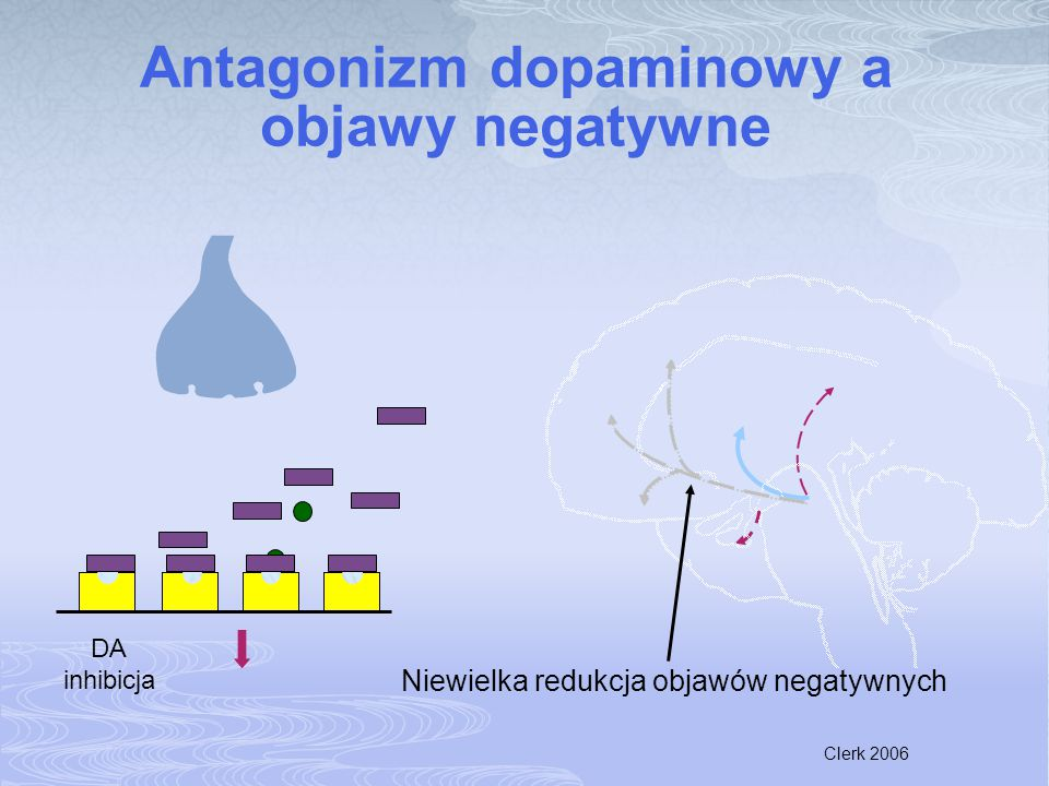 Antagonizm dopaminowy a objawy negatywne