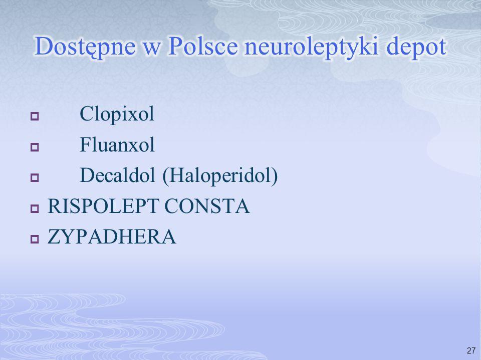 Dostępne w Polsce neuroleptyki depot