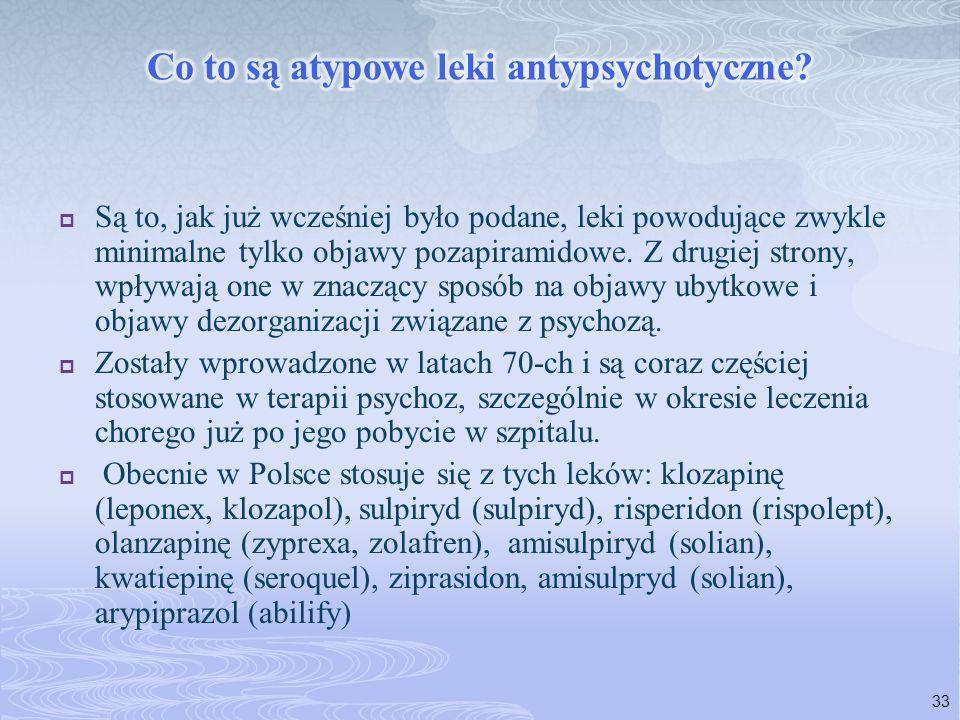 Co to są atypowe leki antypsychotyczne