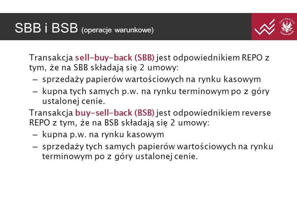 SBB i BSB (operacje warunkowe)