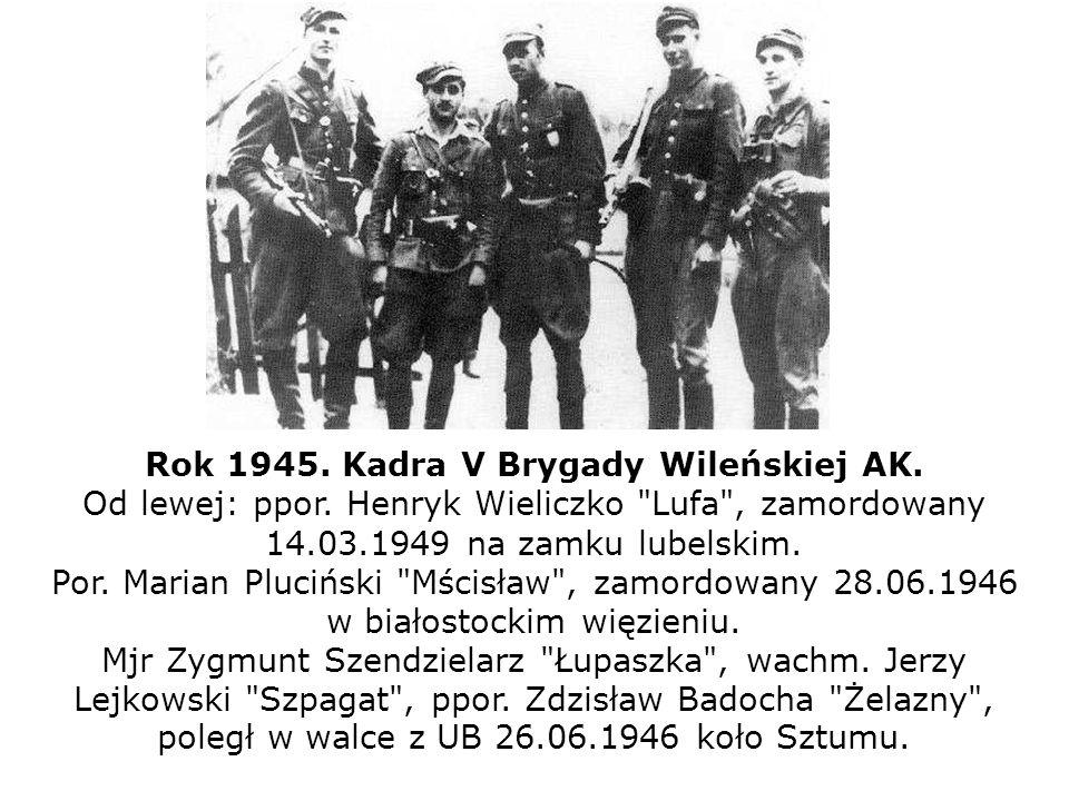 Rok 1945. Kadra V Brygady Wileńskiej AK.