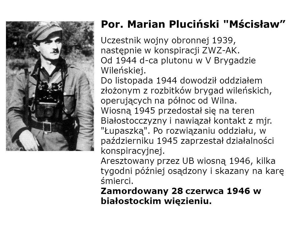 Por. Marian Pluciński Mścisław