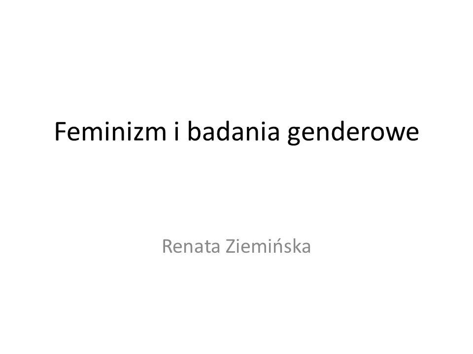 Feminizm i badania genderowe