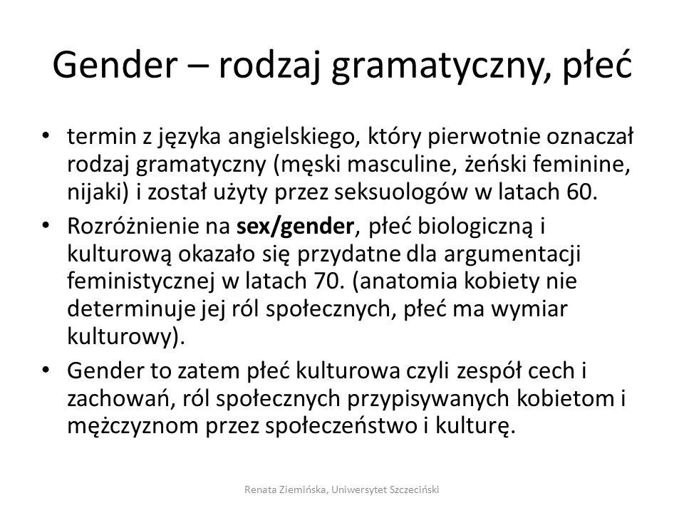 Gender – rodzaj gramatyczny, płeć