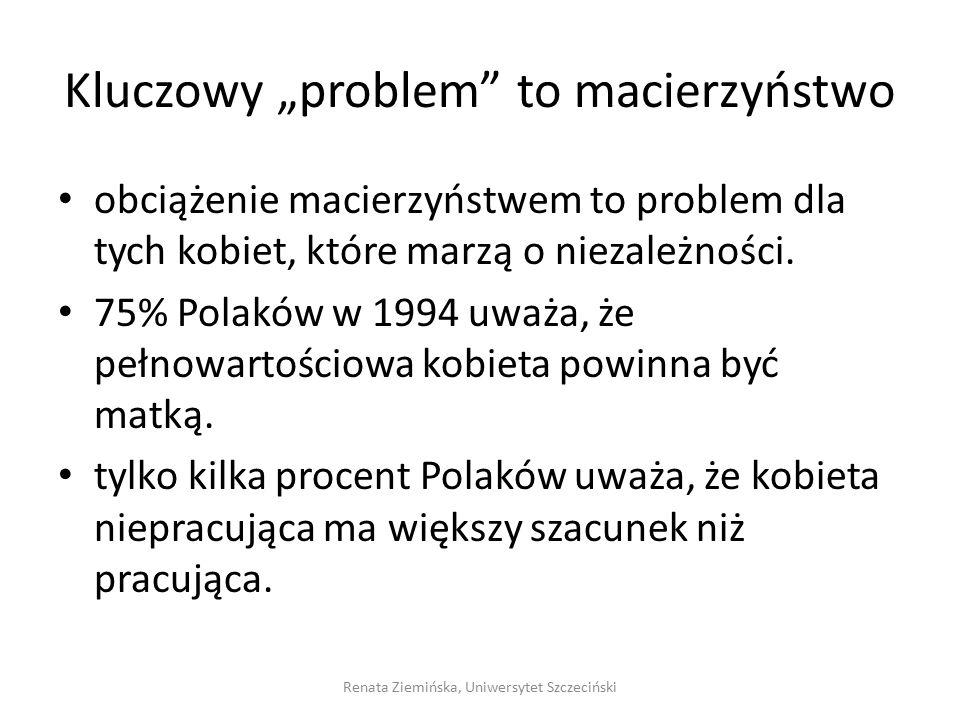 """Kluczowy """"problem to macierzyństwo"""