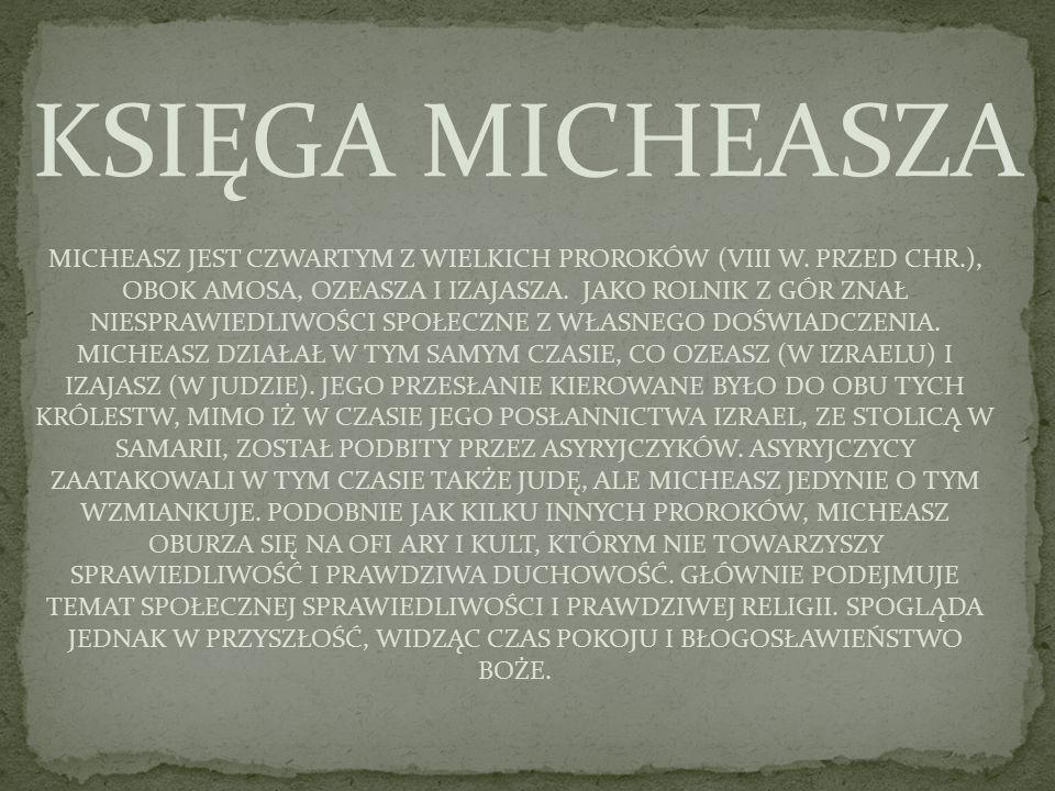 KSIĘGA MICHEASZA