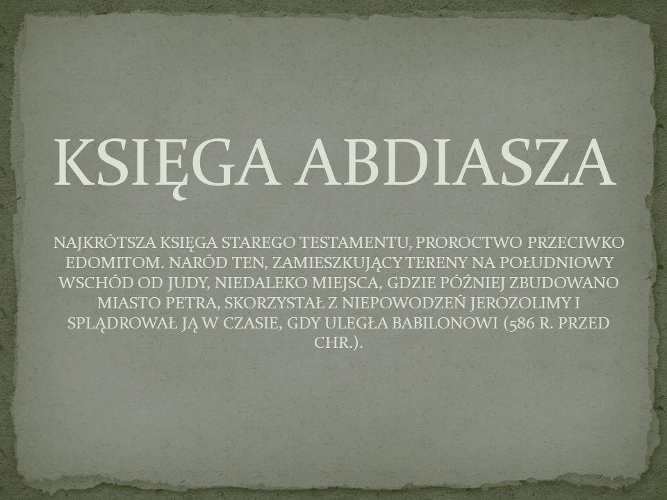 KSIĘGA ABDIASZA