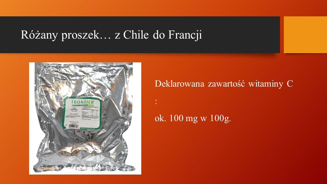 Różany proszek… z Chile do Francji