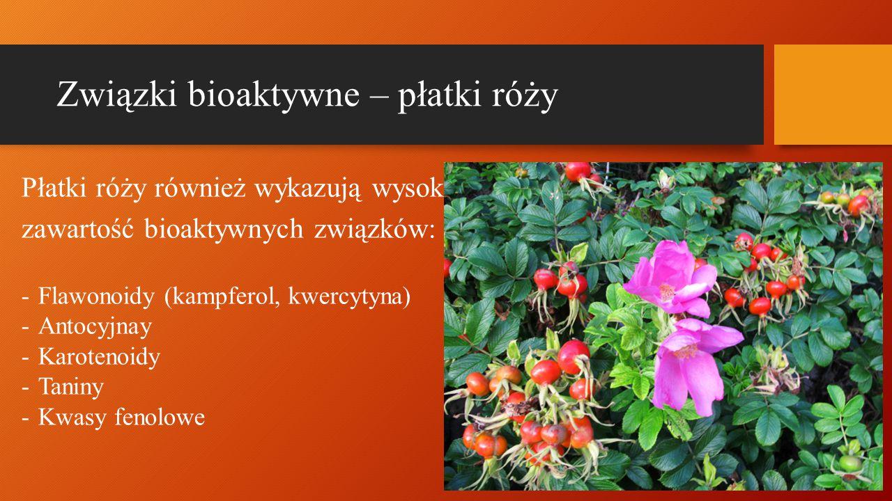 Związki bioaktywne – płatki róży