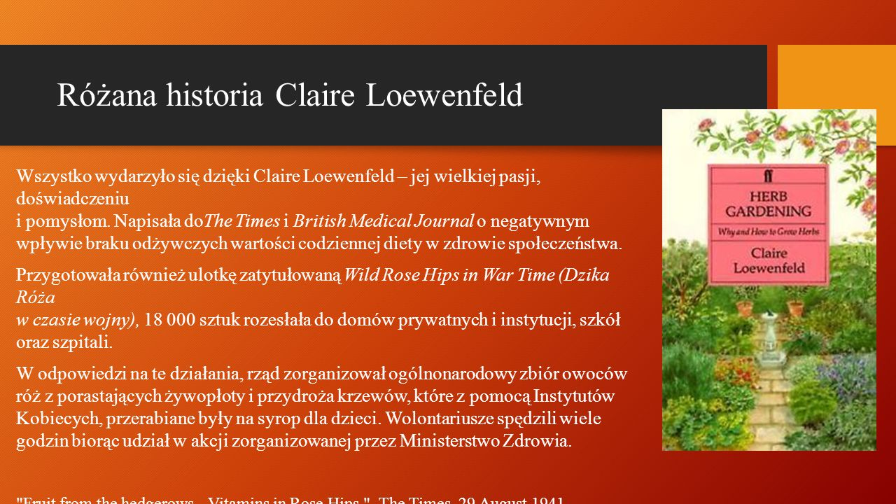 Różana historia Claire Loewenfeld