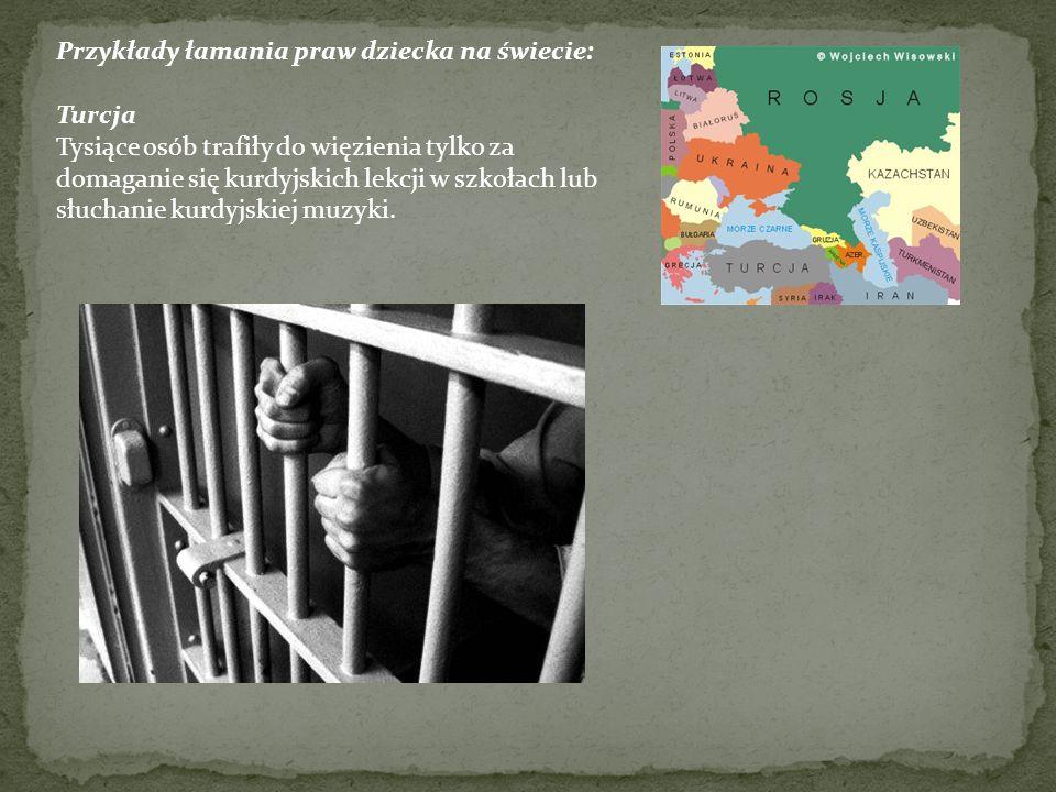 Przykłady łamania praw dziecka na świecie: