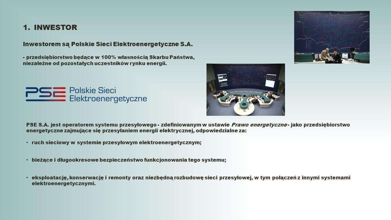 INWESTOR Inwestorem są Polskie Sieci Elektroenergetyczne S.A.