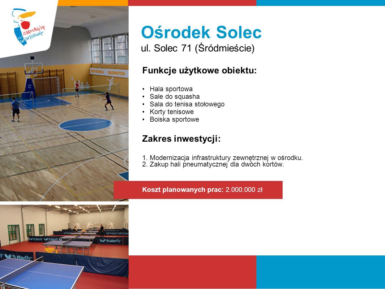 Ośrodek Solec ul. Solec 71 (Śródmieście) Funkcje użytkowe obiektu: