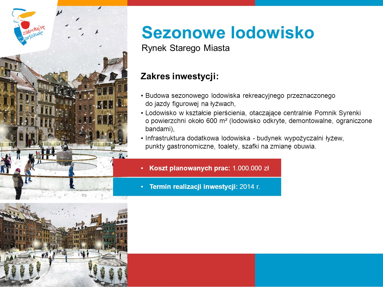 Sezonowe lodowisko Rynek Starego Miasta Zakres inwestycji: