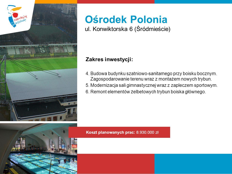 Ośrodek Polonia ul. Konwiktorska 6 (Śródmieście) Zakres inwestycji:
