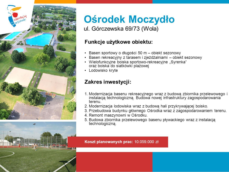 Ośrodek Moczydło ul. Górczewska 69/73 (Wola) Funkcje użytkowe obiektu: