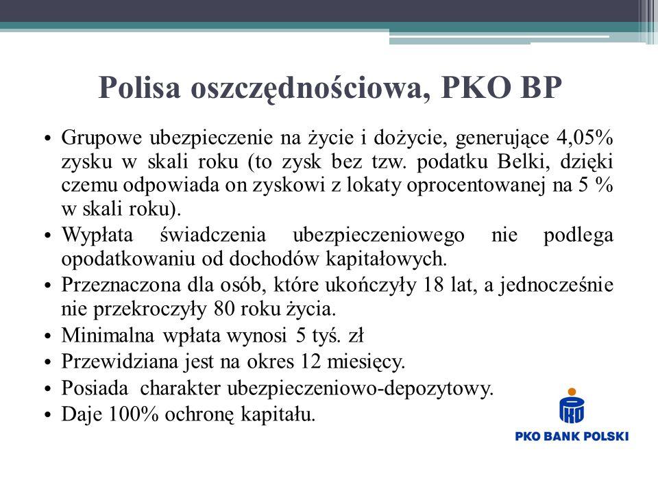 Polisa oszczędnościowa, PKO BP