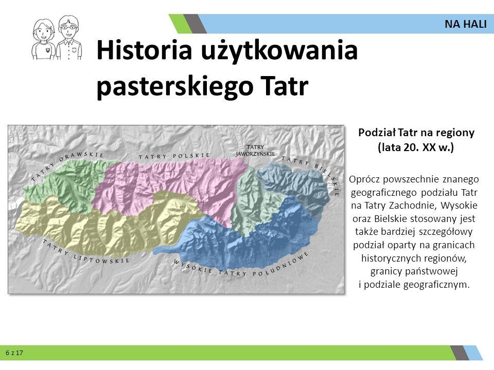 Podział Tatr na regiony (lata 20. XX w.)