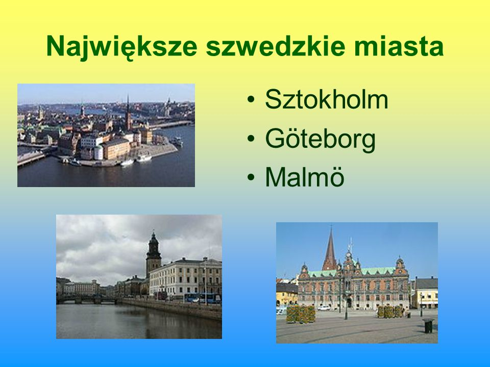 Największe szwedzkie miasta