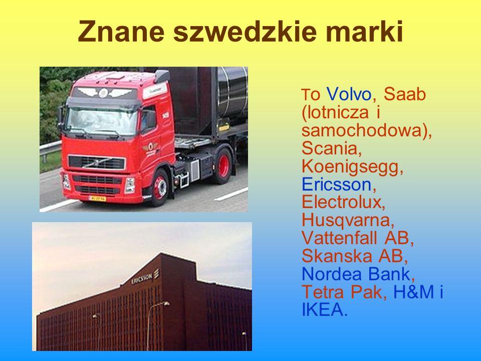 Znane szwedzkie marki