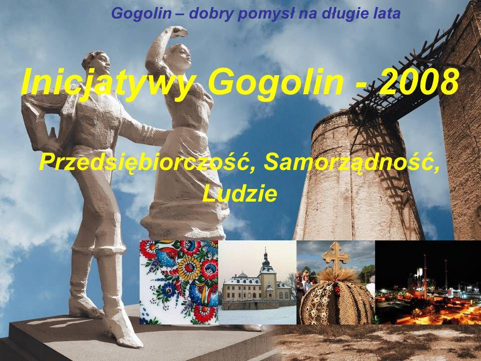 Inicjatywy Gogolin - 2008 Przedsiębiorczość, Samorządność, Ludzie