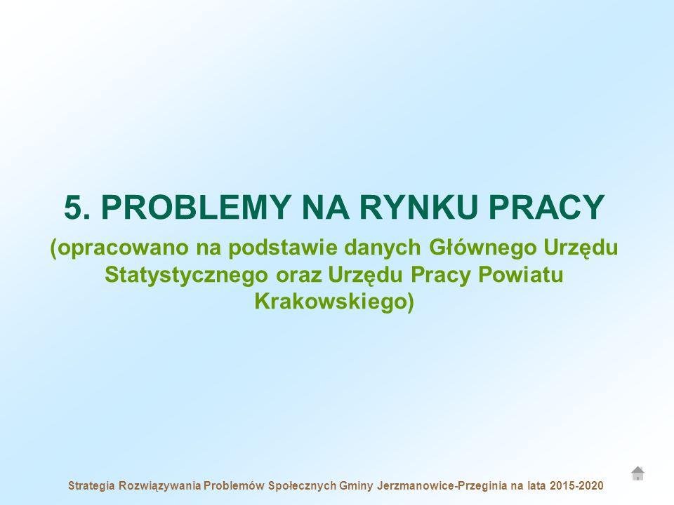 5. PROBLEMY NA RYNKU PRACY (opracowano na podstawie danych Głównego Urzędu Statystycznego oraz Urzędu Pracy Powiatu Krakowskiego)