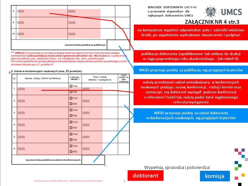 WKSD przyznaje punkty za publikacje, wg przyjętych kryteriów