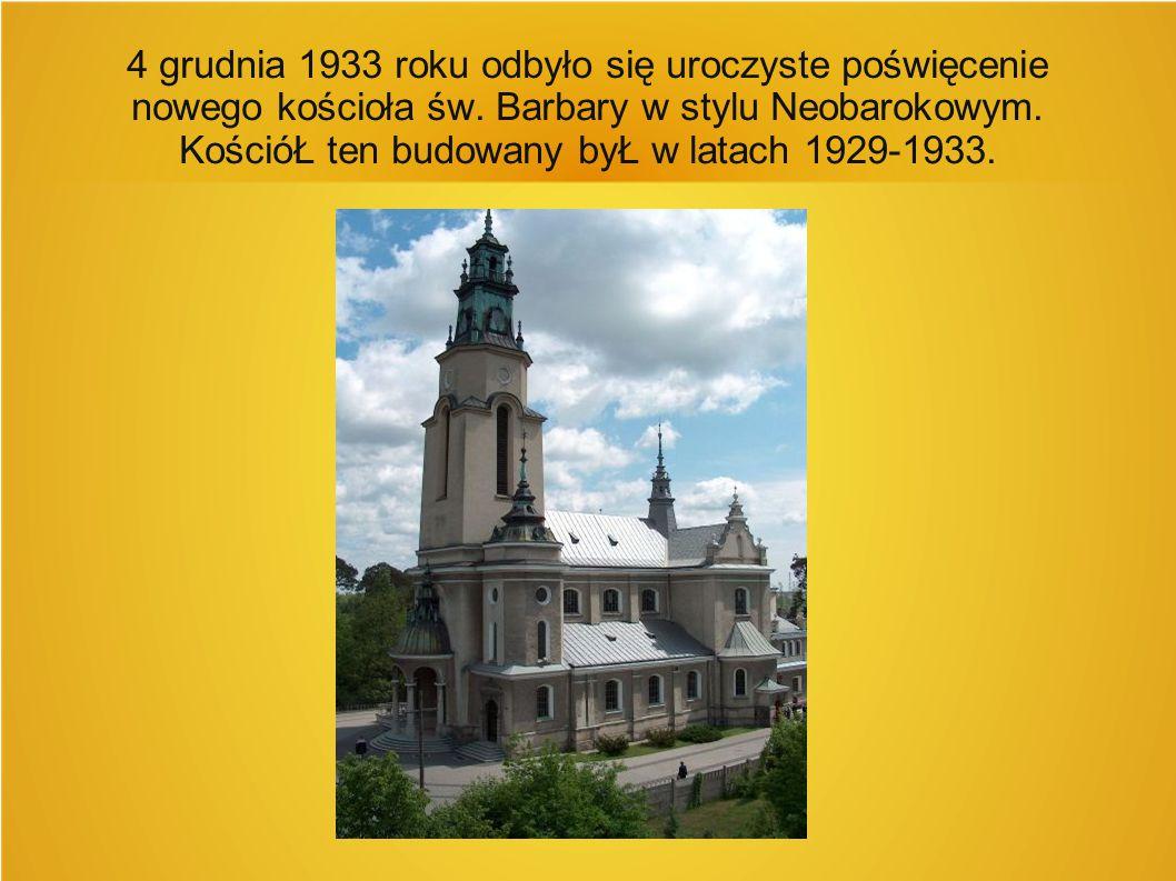 4 grudnia 1933 roku odbyło się uroczyste poświęcenie nowego kościoła św.