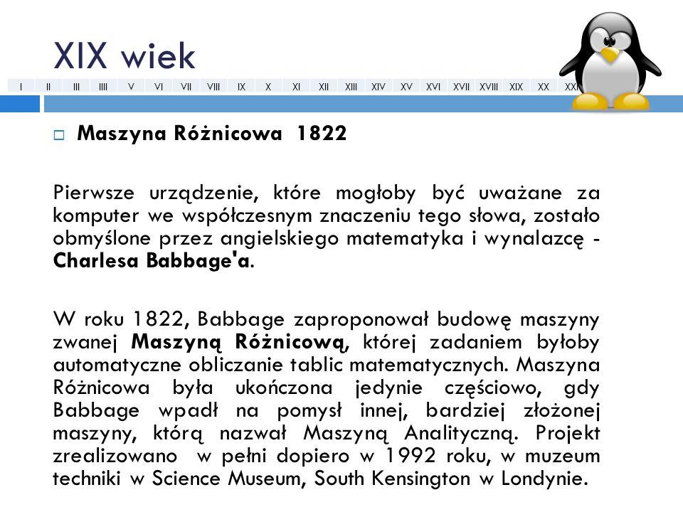XIX wiek Maszyna Różnicowa 1822