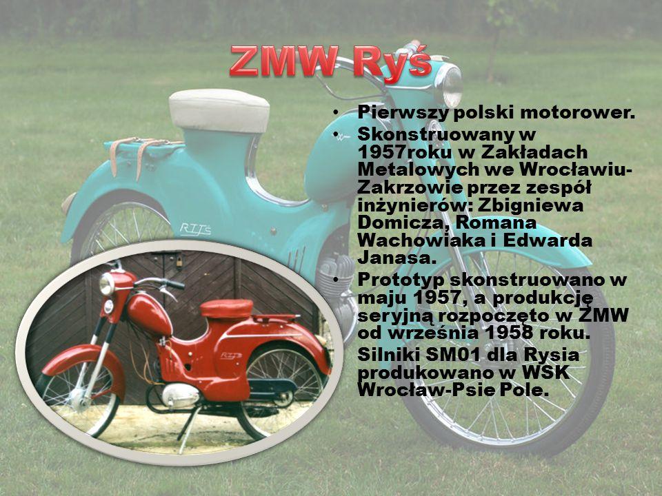 ZMW Ryś Pierwszy polski motorower.