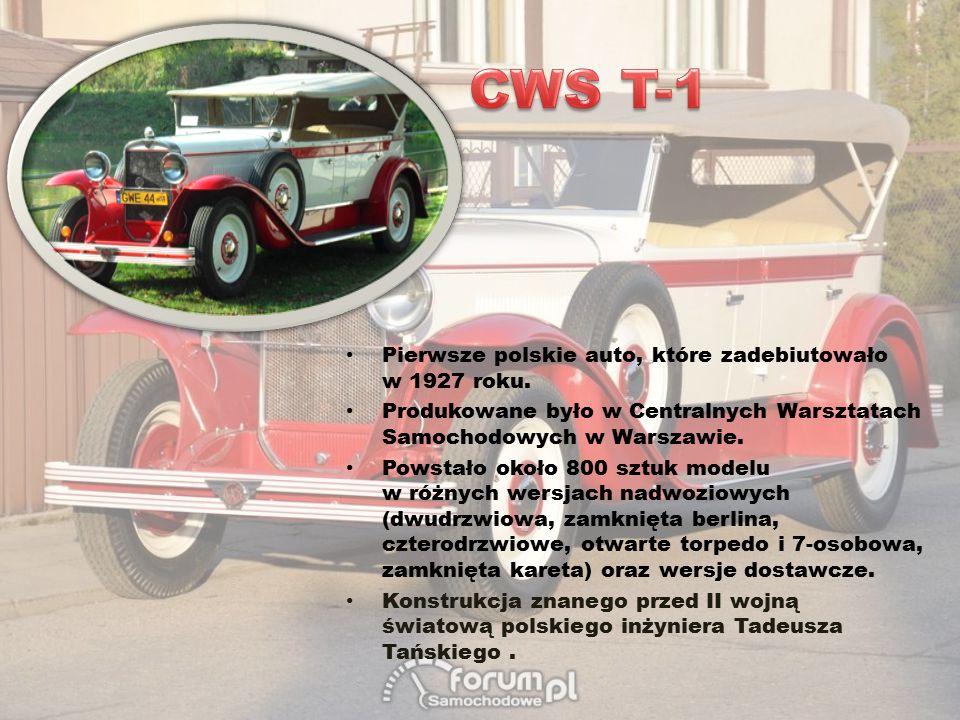 CWS T-1 Pierwsze polskie auto, które zadebiutowało w 1927 roku.