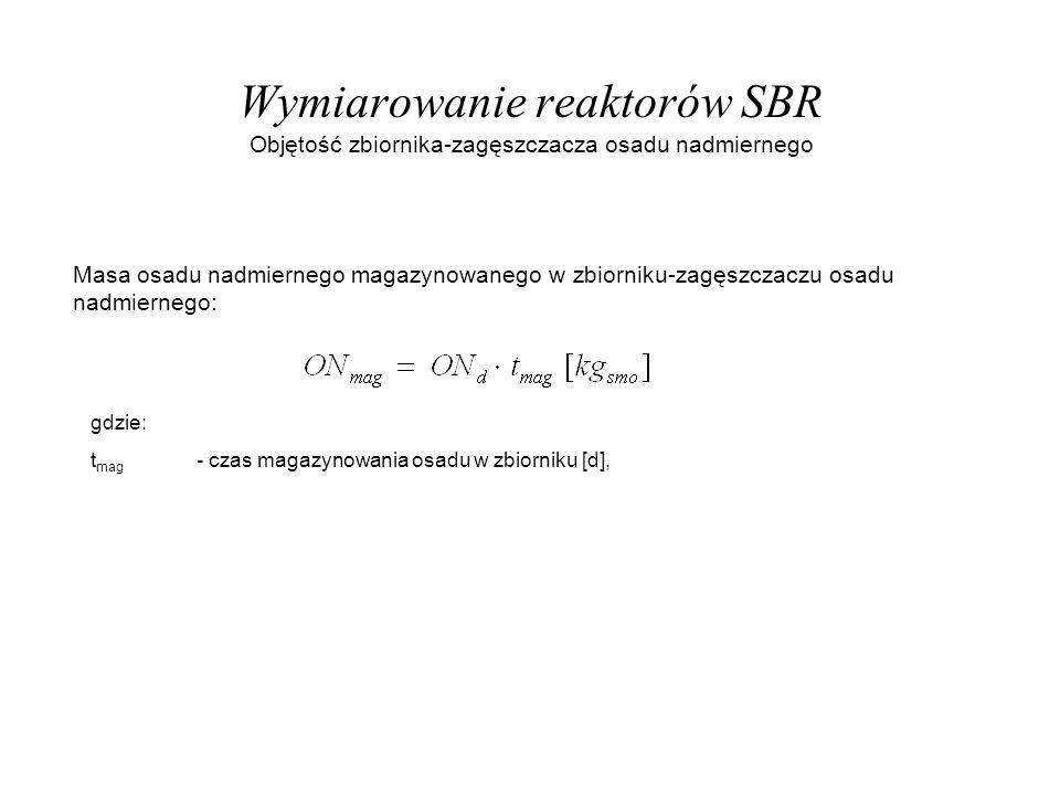 Wymiarowanie reaktorów SBR