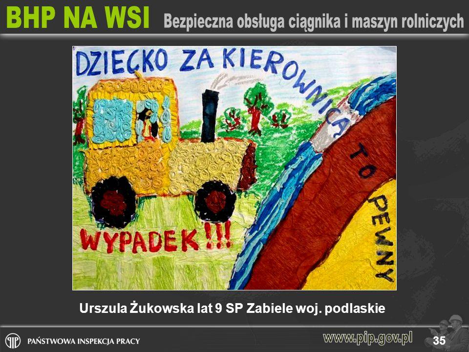 Urszula Żukowska lat 9 SP Zabiele woj. podlaskie