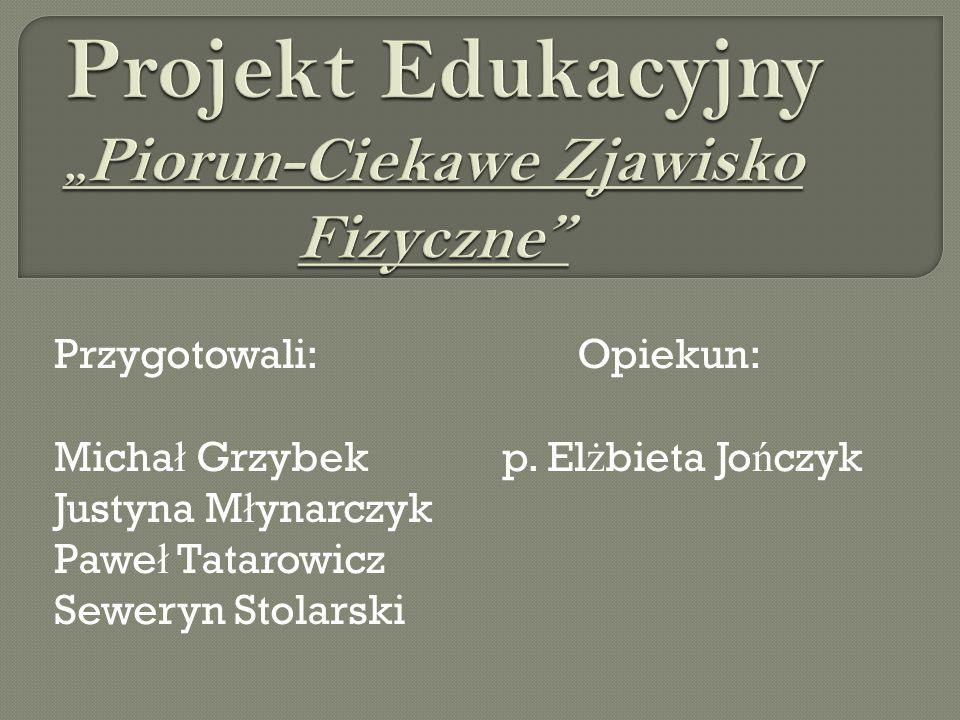 """Projekt Edukacyjny """"Piorun-Ciekawe Zjawisko Fizyczne"""