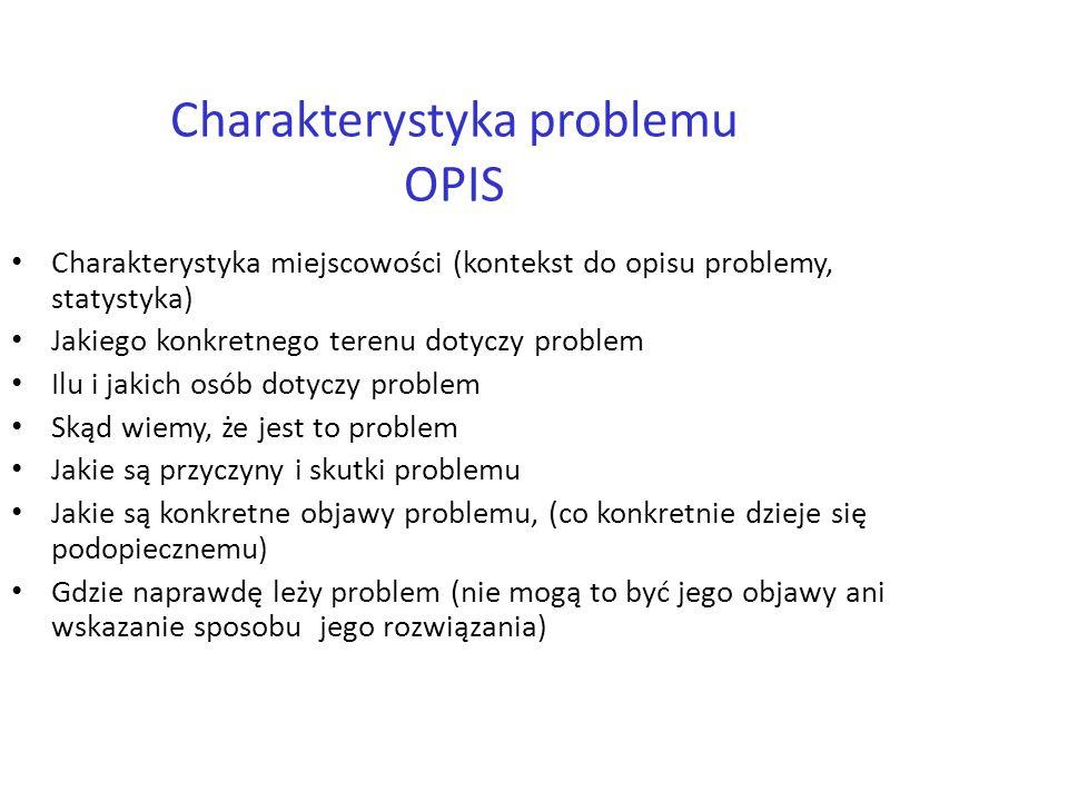Charakterystyka problemu OPIS