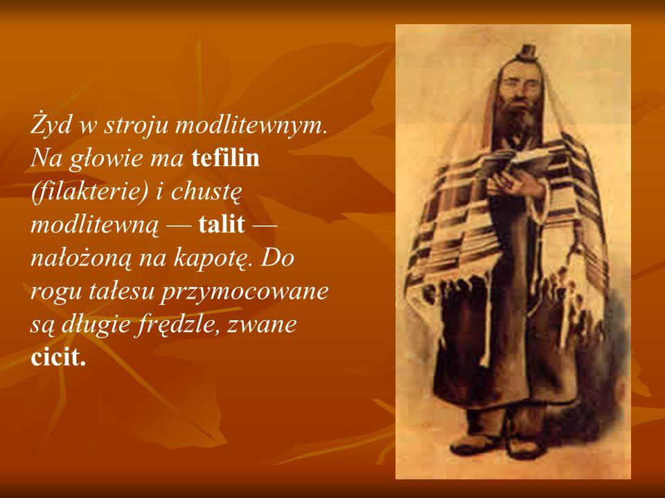 Żyd w stroju modlitewnym