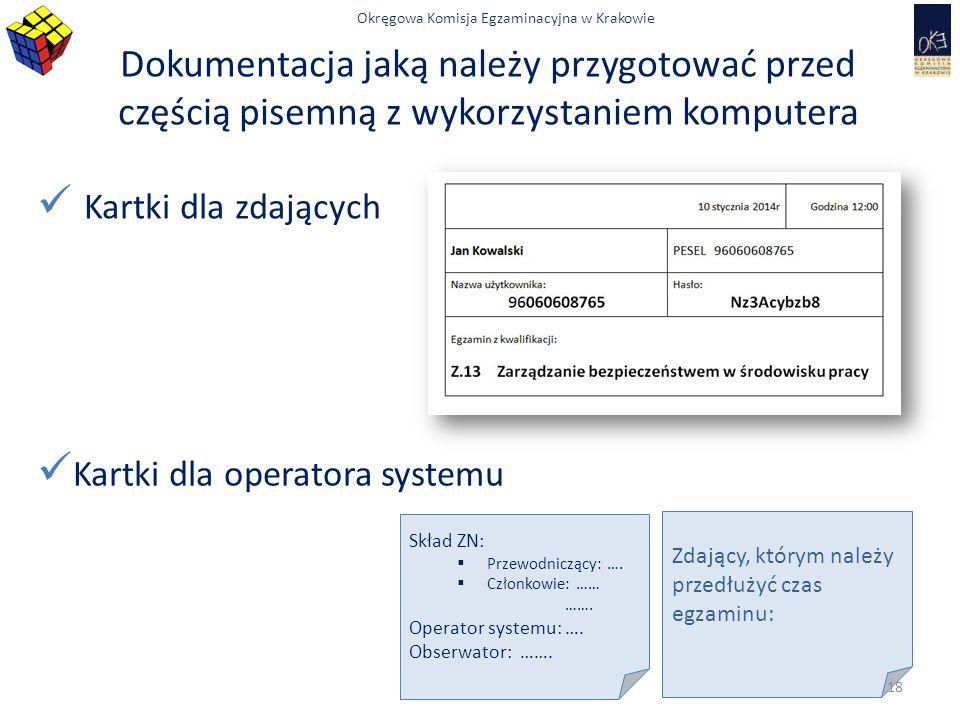 Dokumentacja jaką należy przygotować przed częścią pisemną z wykorzystaniem komputera