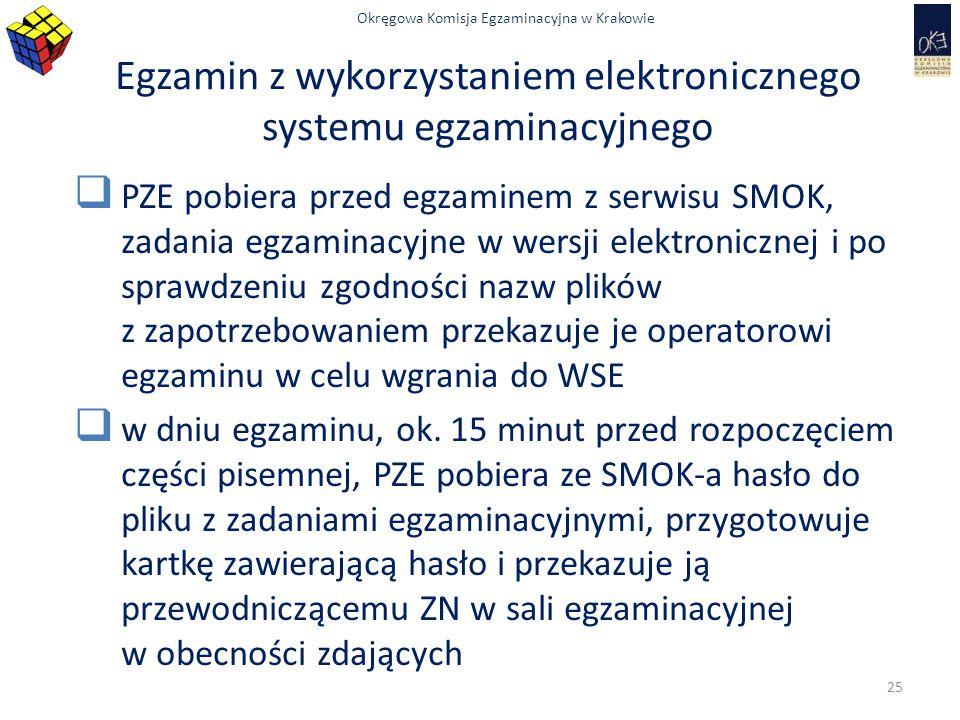 Egzamin z wykorzystaniem elektronicznego systemu egzaminacyjnego