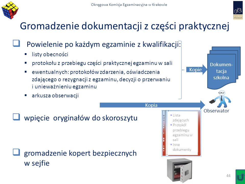 Gromadzenie dokumentacji z części praktycznej