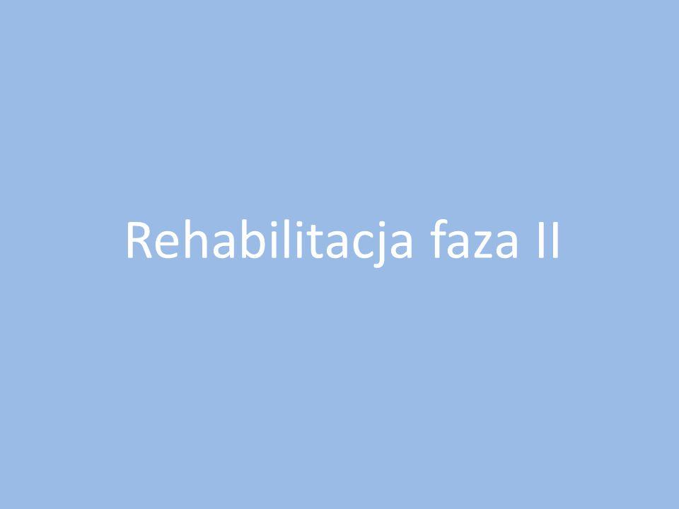 Rehabilitacja faza II