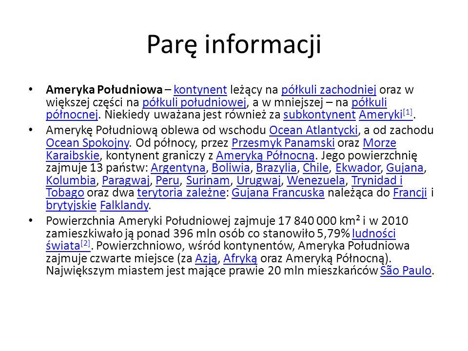 Parę informacji