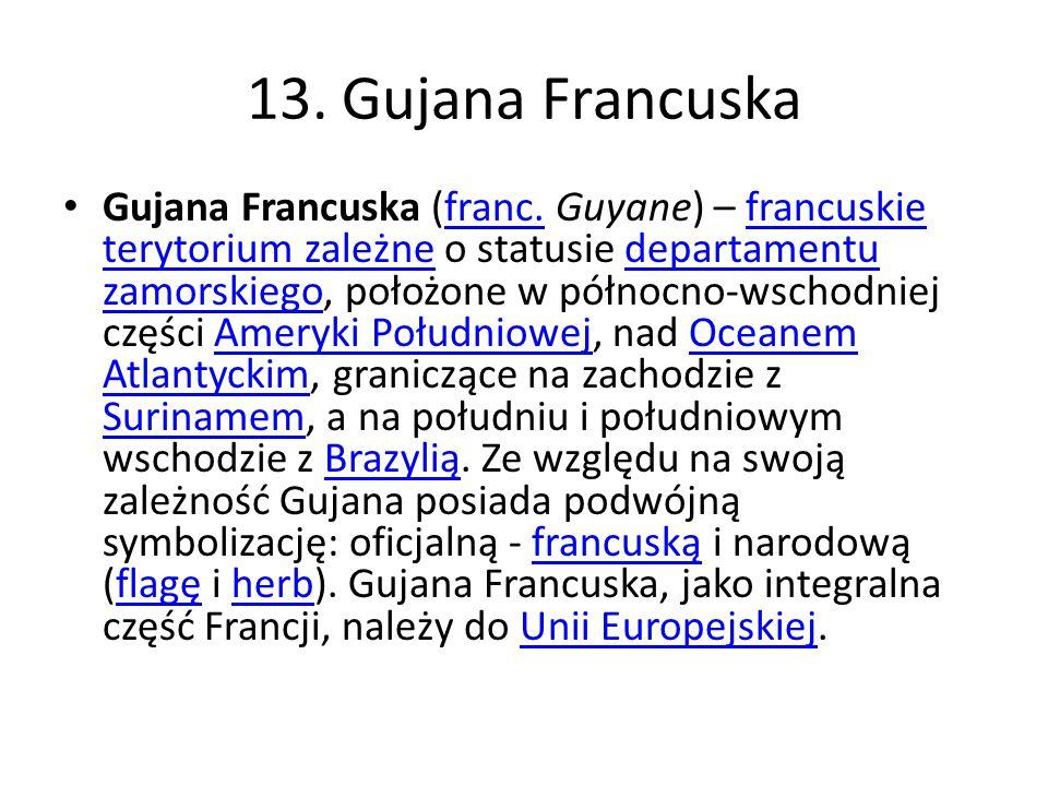 13. Gujana Francuska