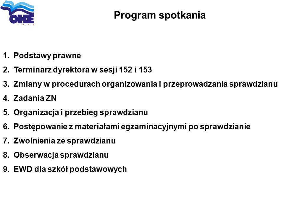 Program spotkania Podstawy prawne