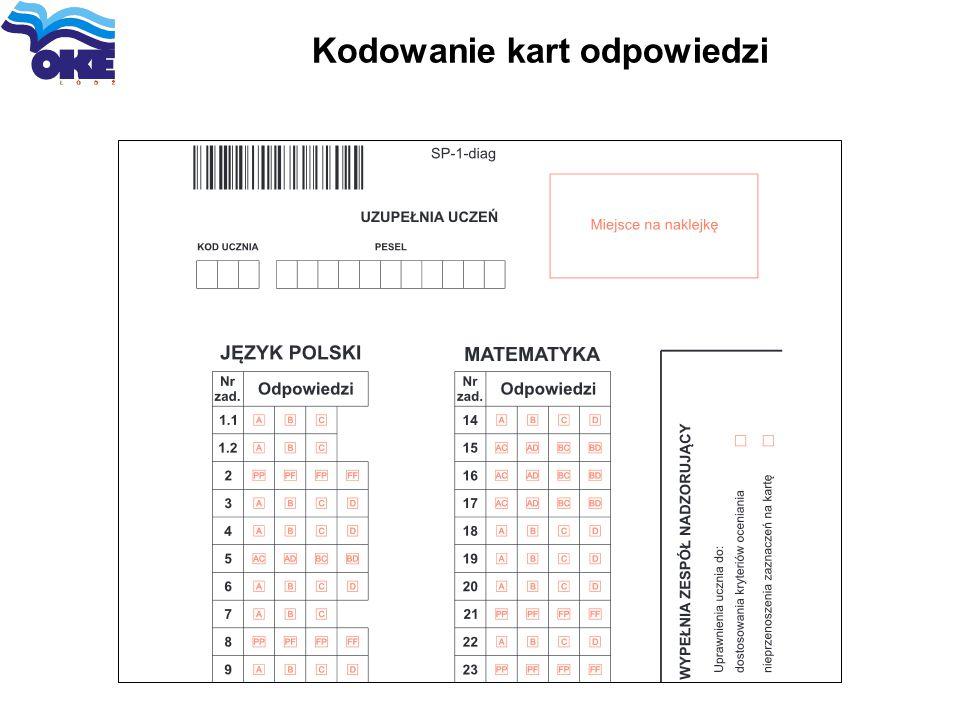 Kodowanie kart odpowiedzi