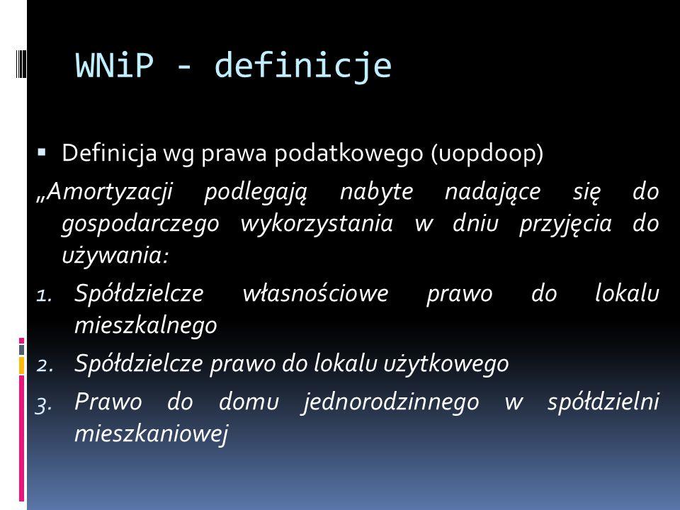 WNiP - definicje Definicja wg prawa podatkowego (uopdoop)