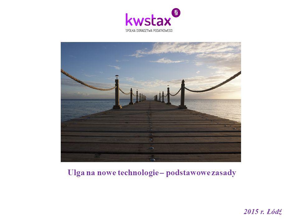 Ulga na nowe technologie – podstawowe zasady